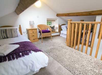 Top-floor twin bedroom